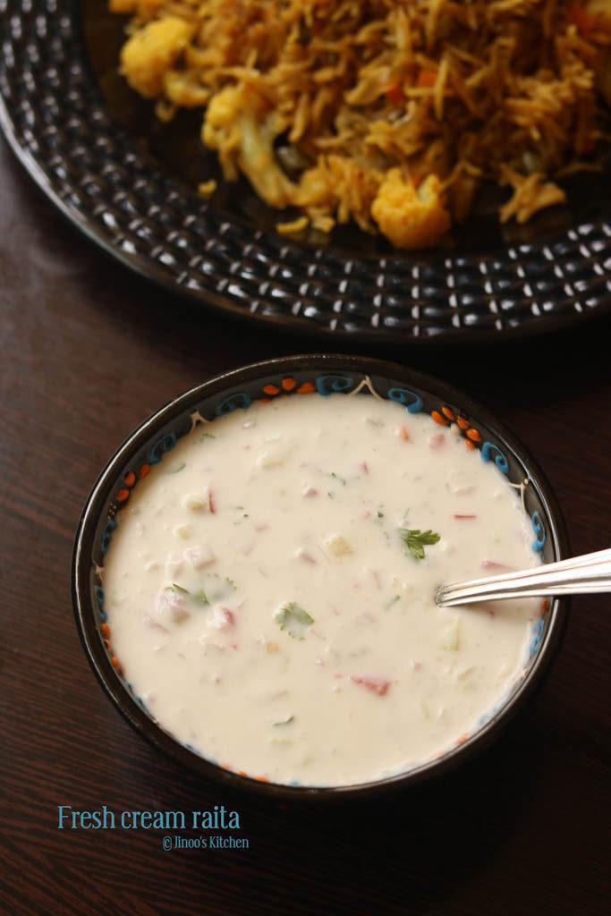fresh cream raita recipe final image 1