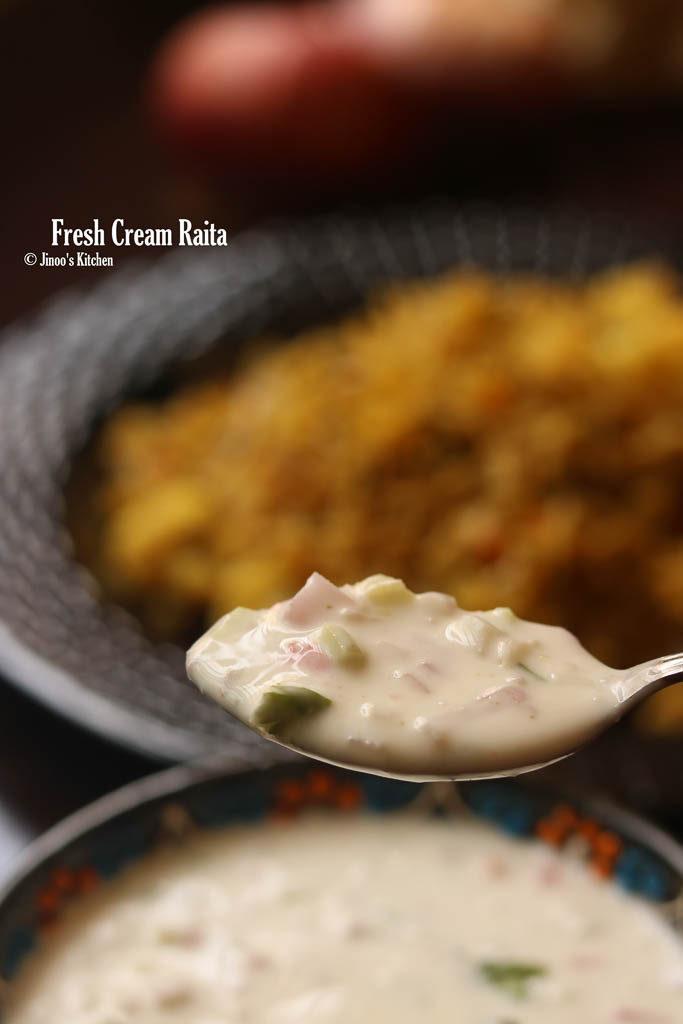fresh cream raita recipe final image