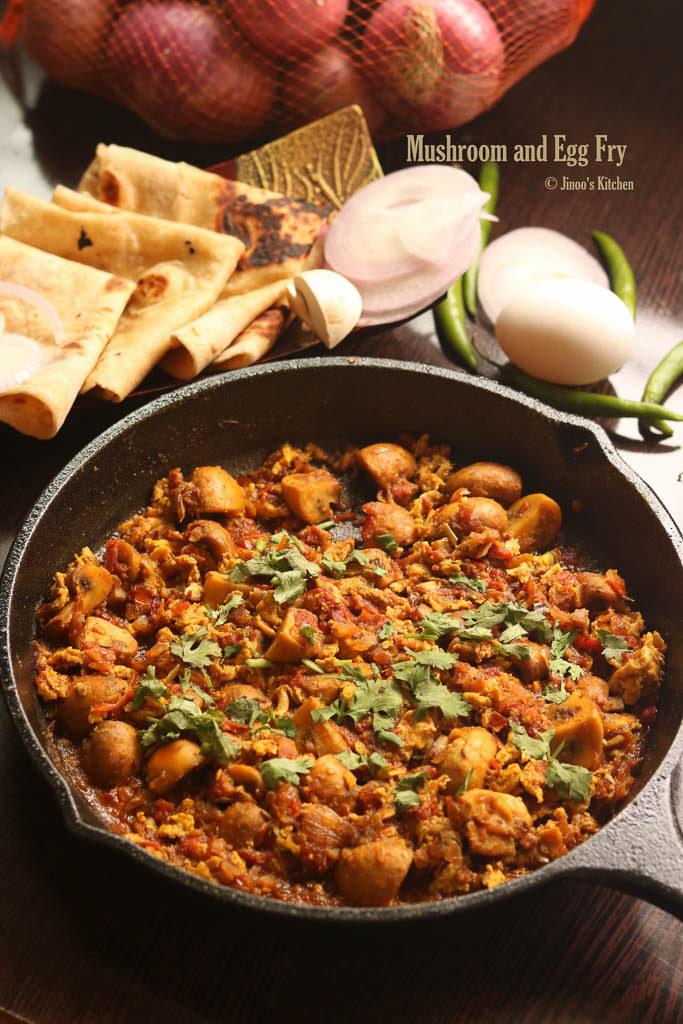 mushroom egg masala