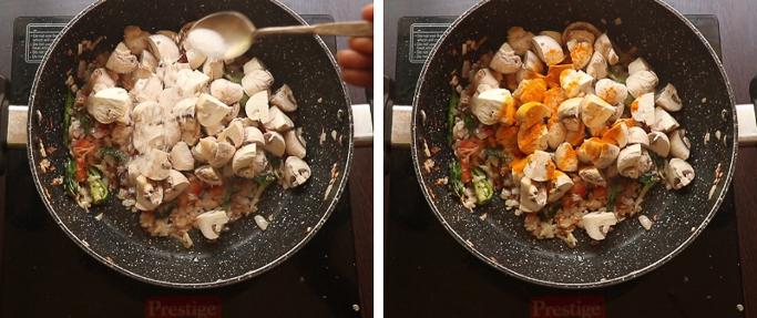 mushroom sevai recipe
