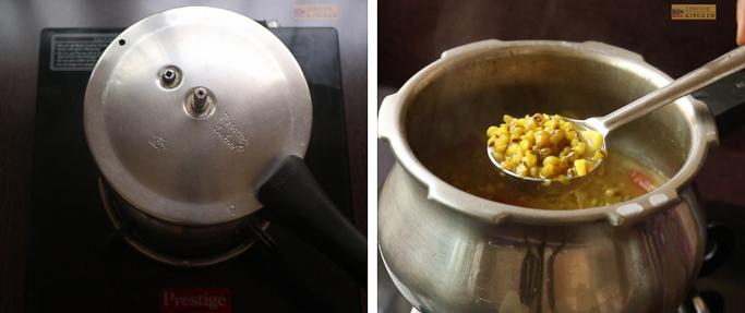 pressure cook Cherupayar curry