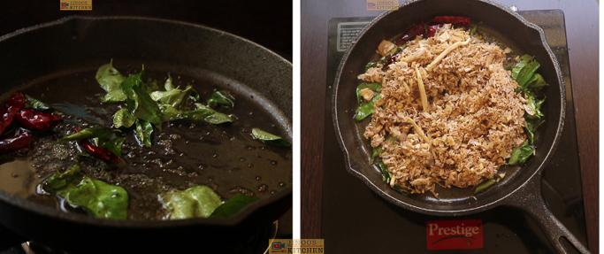 temper and cook flower Chundum payarum recipe