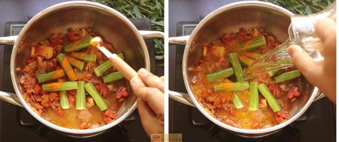 turmeric,water ponnanganni keerai sambar
