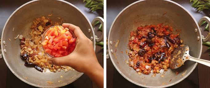 add tomato spicy chicken fry recipe