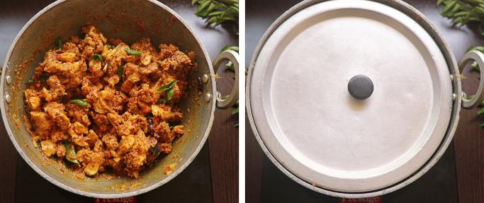 close cook spicy chicken fry recipe