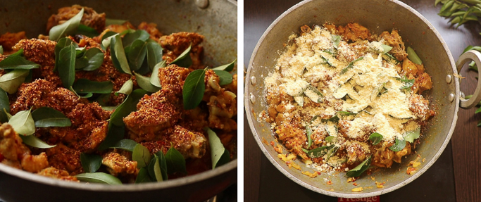 curry and gram flour spicy chicken fry recipe