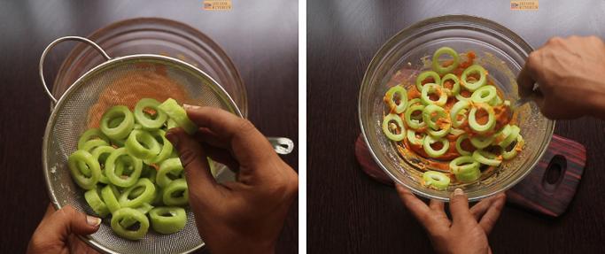 step 5 snake gourd rings recipe