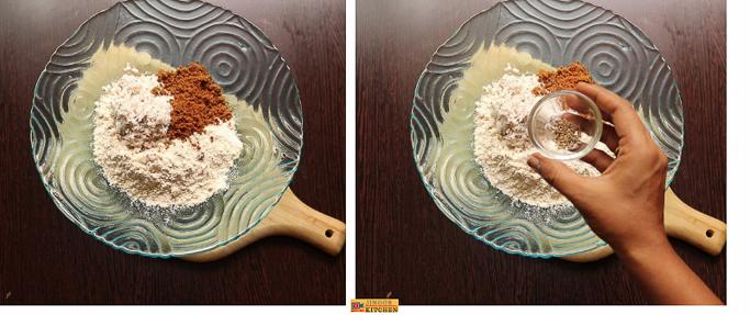 wheat dumplings in coconut sauce