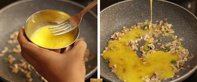 Mushroom egg toast