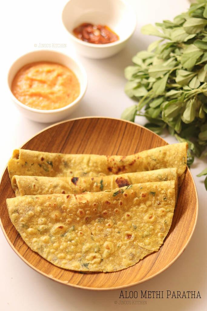 How to make aloo methi paratha recipe