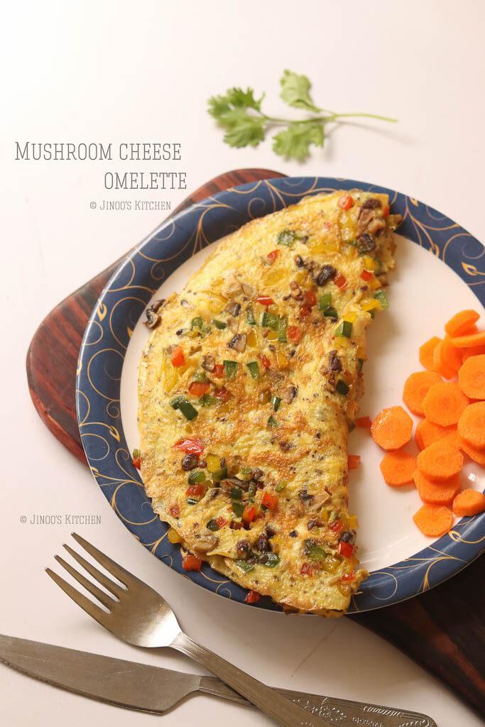 mushroom cheese omelette
