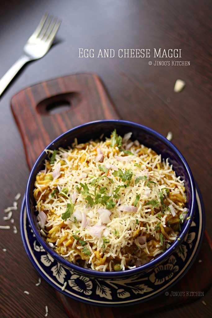 egg and cheese maggi recipe