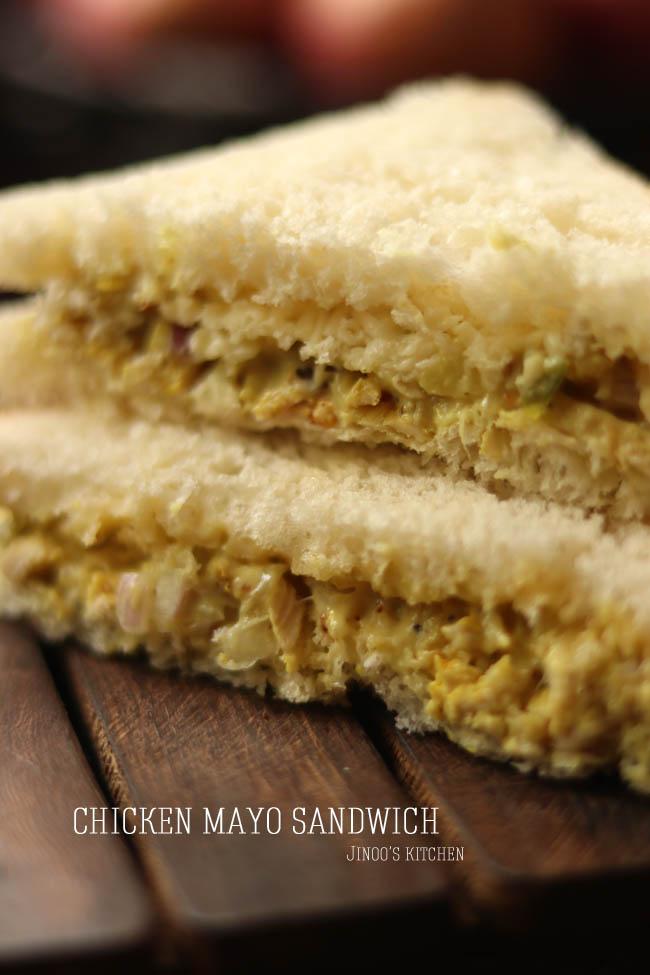 Chicken sandwich recipe   Chicken mayo sandwich
