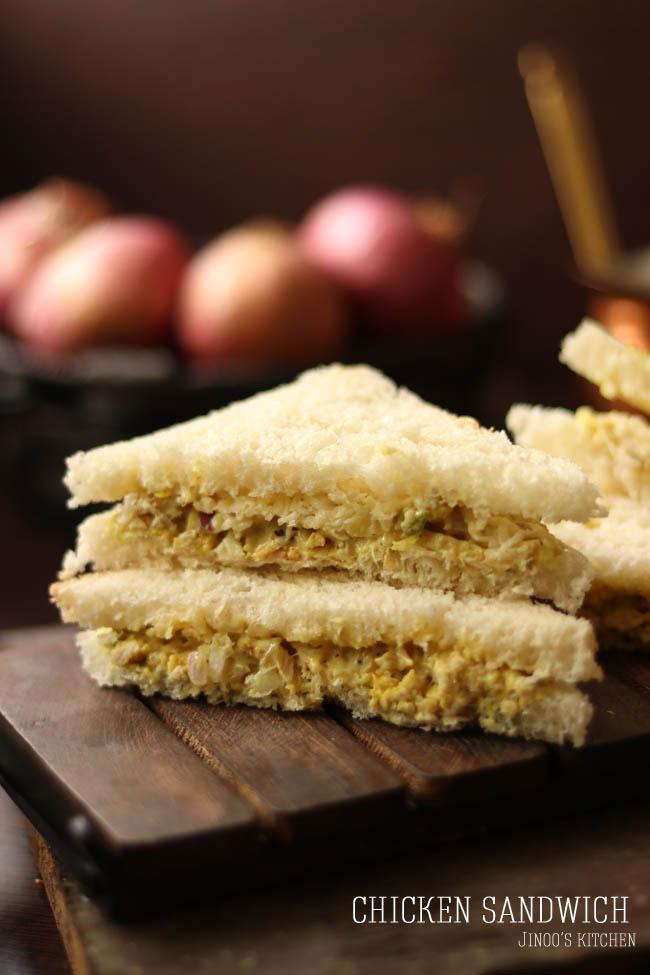 Chicken sandwich recipe | Chicken mayo sandwich