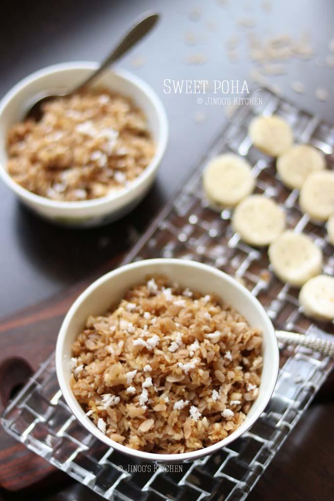 sweet poha recipe