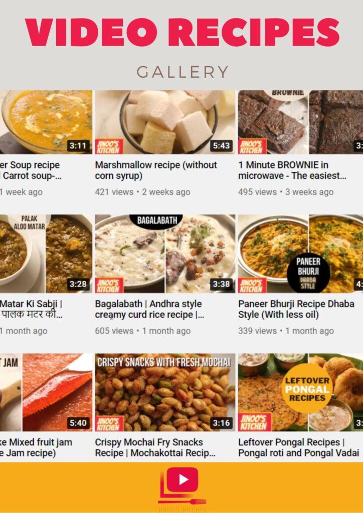 video recipes gallery