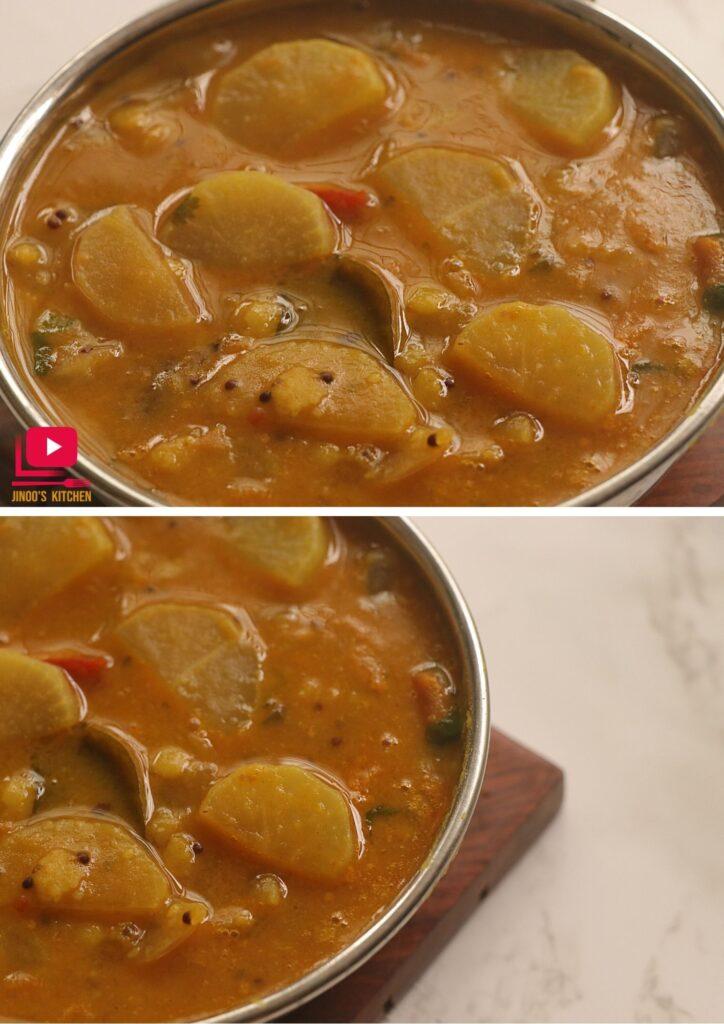 mullangi sambar radish sambar recipe