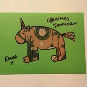 Christmas Dinocorn by Emma Holmes