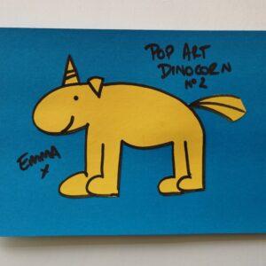 Pop art dinocorn No2