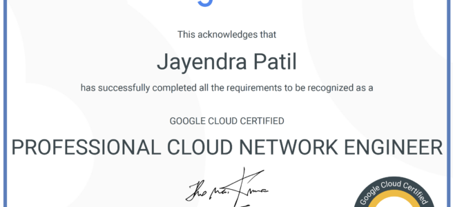 Google Cloud - Professional Cloud Network Engineer Certification