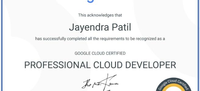 Google Cloud Profressional Cloud Developer Certificate