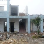Severely damaged by the earthquake, this main classroom building can no longer be utilized