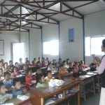 Classes resumed in the temporary shelters provided by the Provincial Government