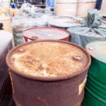 Abandoned PCBs Drums