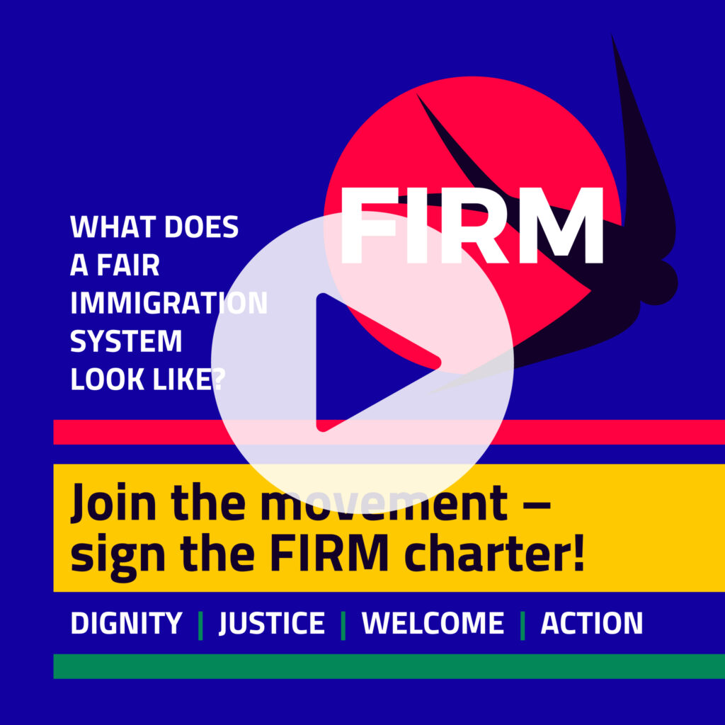 Sign the FIRM Charter animation