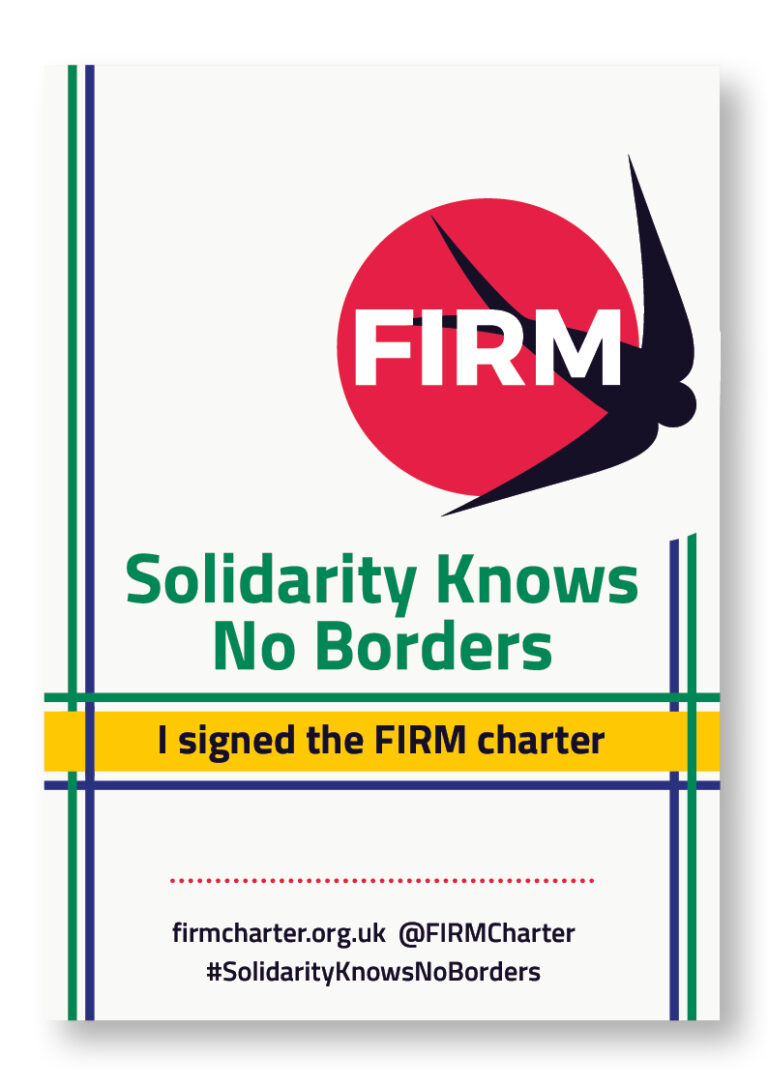 FIRM poster signed print