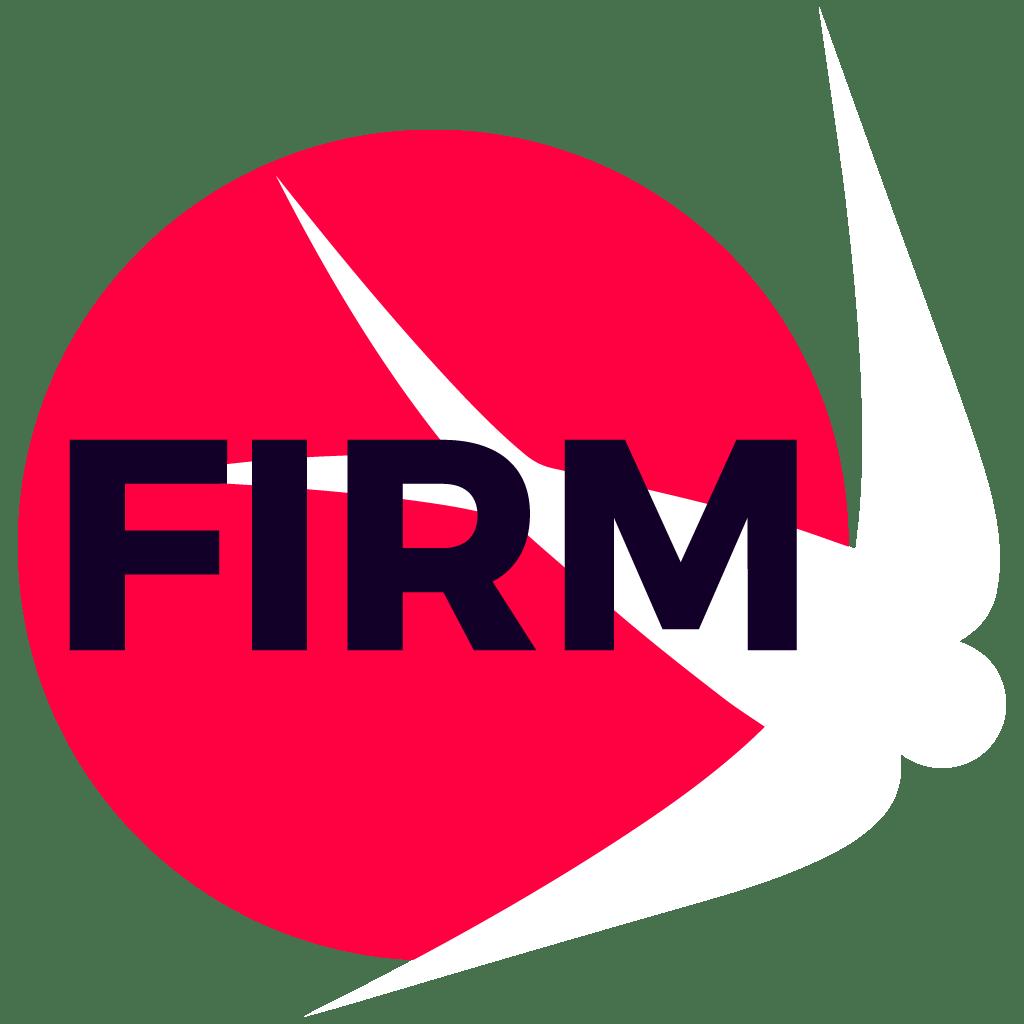 FIRM white logo