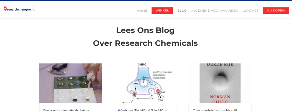 Lees ons blog over research chemicals