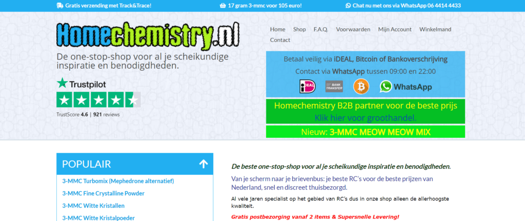 homechemistry.nl research chemical website