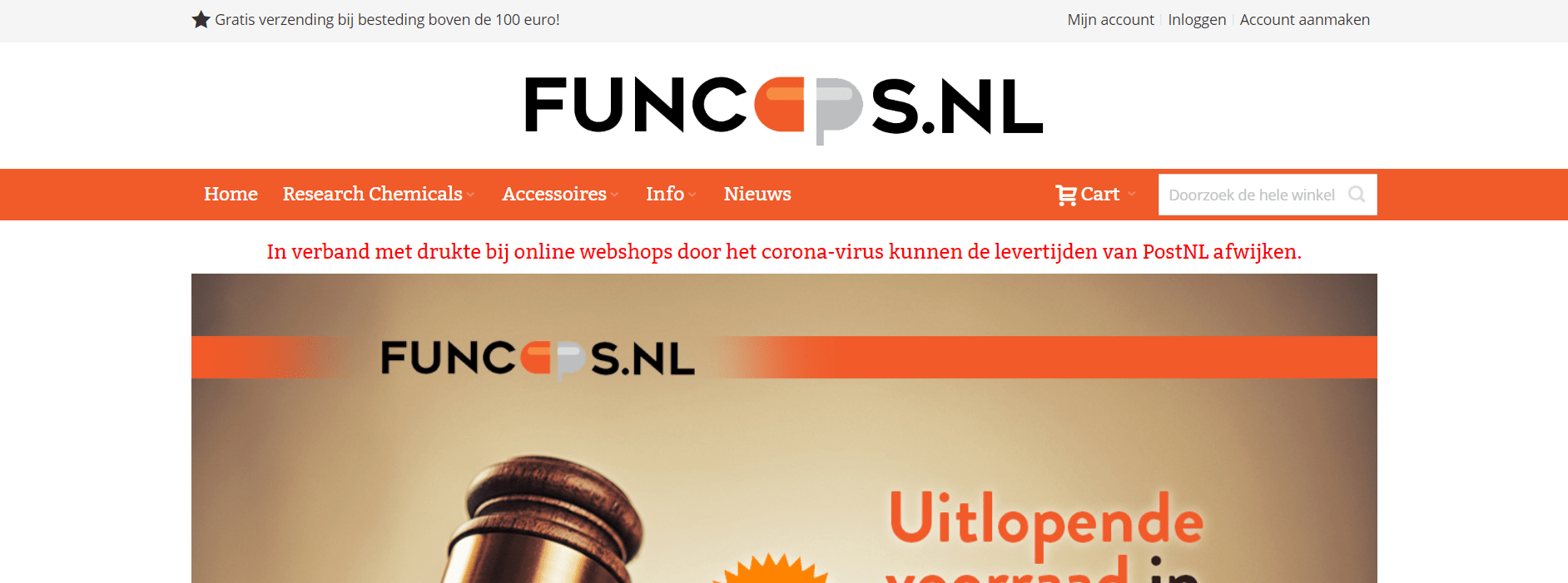 research chemicals website Funcaps.nl