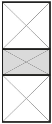 2 Panel, 250mm Centre