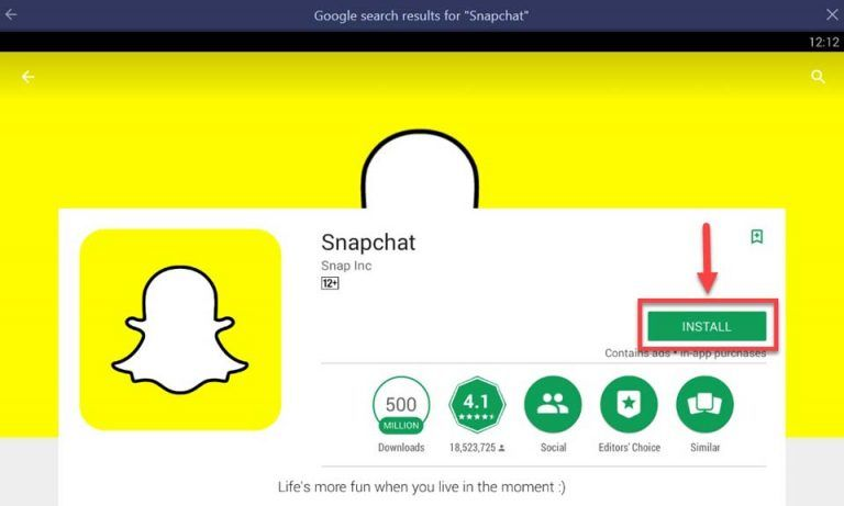Snapchat for Windows 10