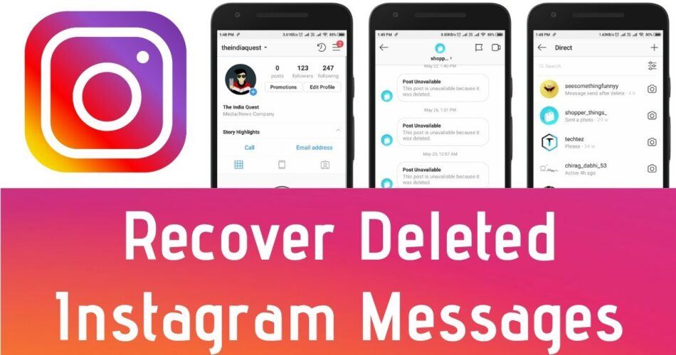 How To Recover Deleted Instagram Messages
