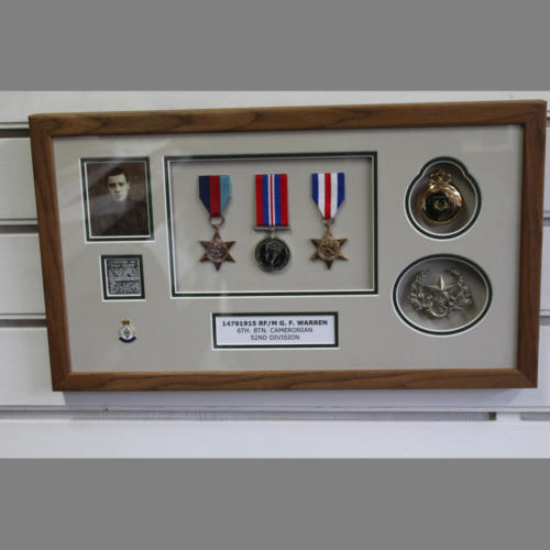 Trio of WW2 Medals & badges