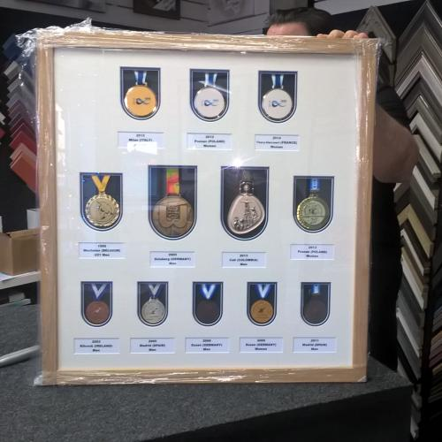 Collection of canoeing medals