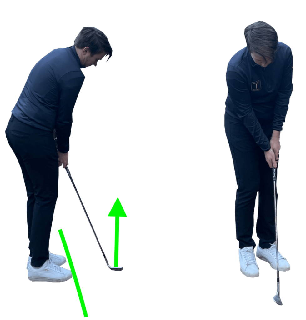 Chipping set up position for beginners