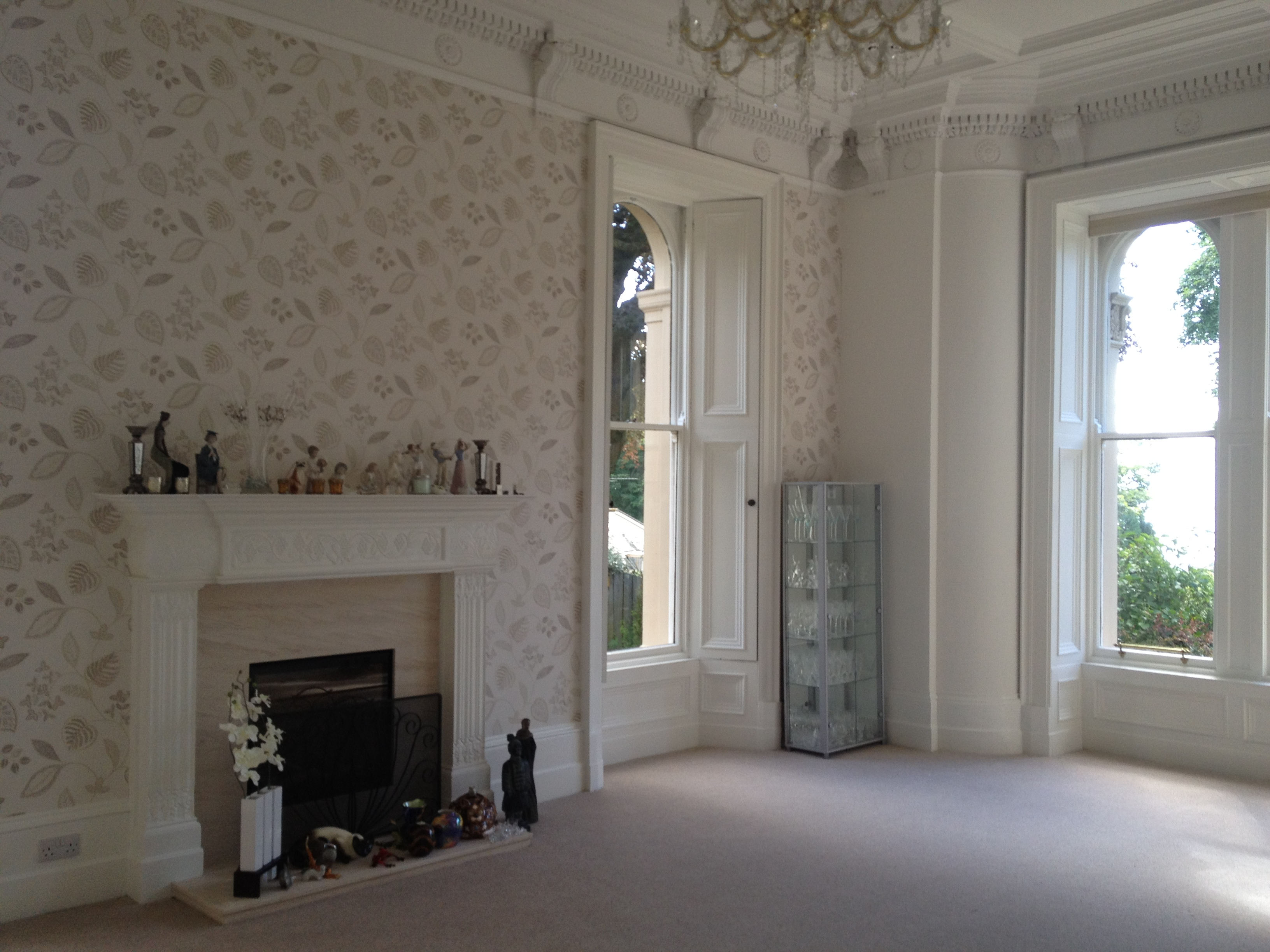 Alterations & refurbishment of 'B' listed building (living room). Dunalistair Gardens, Broughty Ferry