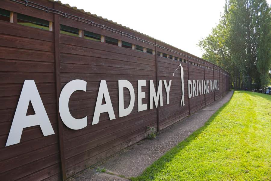 The front sign of Wexham Park Golf Centre in Buckinghamshire