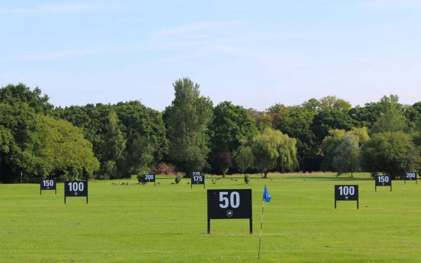 Outfield on the range at Wexham Park in Berkshire