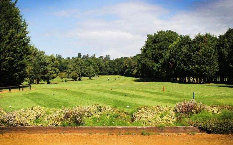 The first tee at Wexham Park Golf Centre in Buckinghamshire