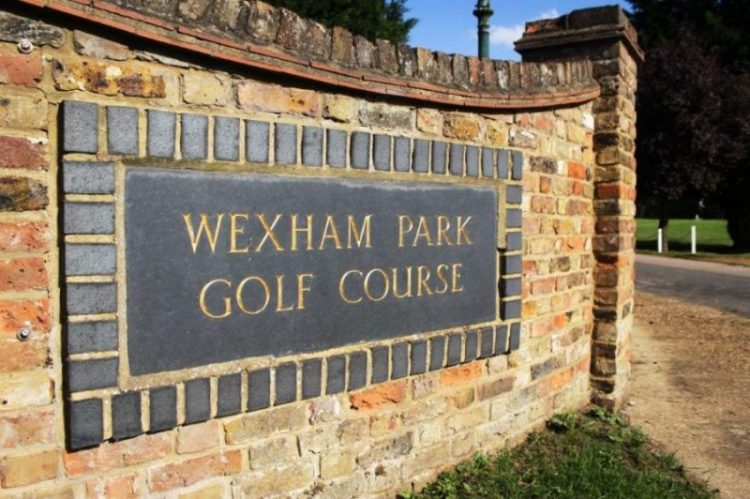 """Front drive sign for """"Wexham Park Golf Course"""""""
