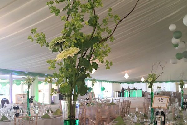 Inside Marquee at Wexham Park Golf Centre Buckinghamshire