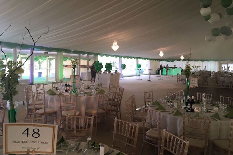 Inside Marquee at Wexham Park Golf Centre in Slough