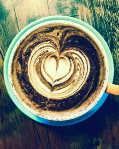 coffee art heart at Crowded House