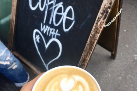 coffee and sign