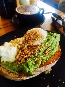 brunch- avo and egg on rye
